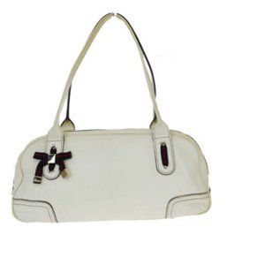 Gucci Sherry Line Leather Shoulder Bag Ivory